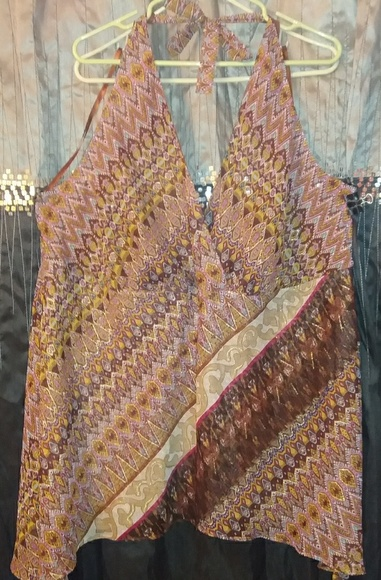 Lane Bryant Tops - $25 Boho  Dressy Halter Handkerchief Hem
